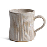 Barbarah Robertson Pottery Hand Carved Tree Mug, Birch White