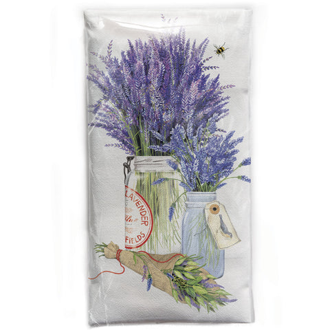 Mary Lake-Thompson Herb Jar with Lavender Flour Sack Dish Towel