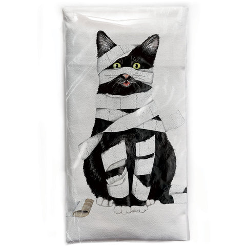 Mary Lake-Thompson Cat Mummy Cotton Flour Sack Dish Towel