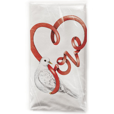 Mary Lake-Thompson Love Dove Cotton Flour Sack Dish Towel