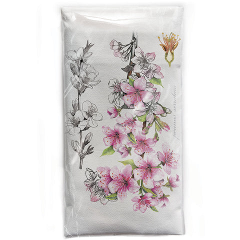 Mary Lake-Thompson Botanical Cherry Blossom Cotton Flour Sack Dish Towel