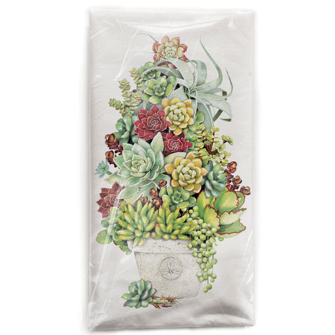 Mary Lake-Thompson Succulent Tree Cotton Flour Sack Dish Towel
