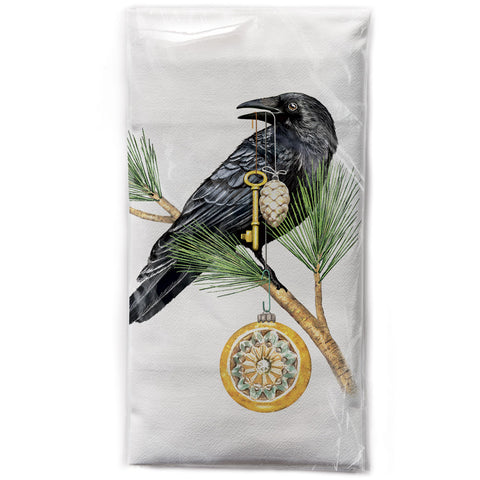 Mary Lake-Thompson Crow Collector Cotton Flour Sack Dish Towel