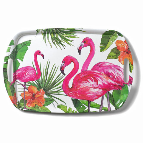 Bamboo Table Flamingo Tropics 18 x 12-inch Serving Tray