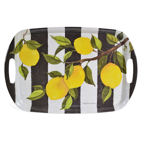 Bamboo Table Lemon Branch 18 x 12-inch Serving Tray