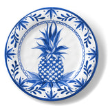 Bamboo Table Blue Pineapple 8.5-inch Salad Plate, Set of 4