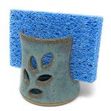 Barbarah Robertson Pottery Leaf Sponge Holder, Big Sky Blue
