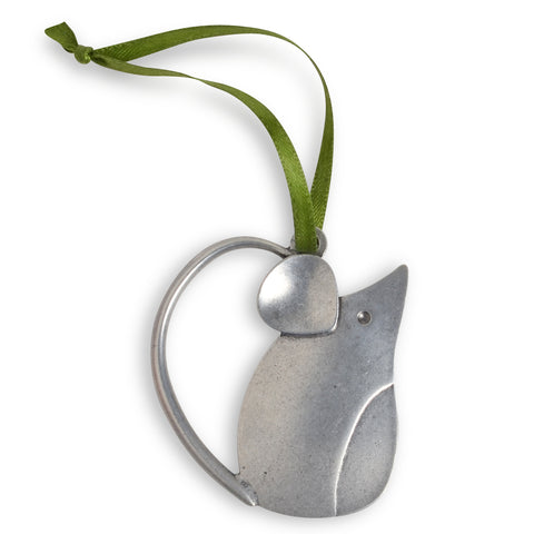 Beehive Handmade Mouse Pewter Ornament