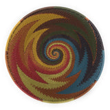 Fair Trade Zulu Telephone Wire 8-inch Mini Platter Basket, Painted Desert