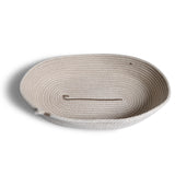 Brklyn Home Handmade Rope Bread Basket, White/Taupe