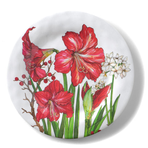 Bamboo Table Amaryllis 8.5-inch Salad/Dessert Plate, Set of 4