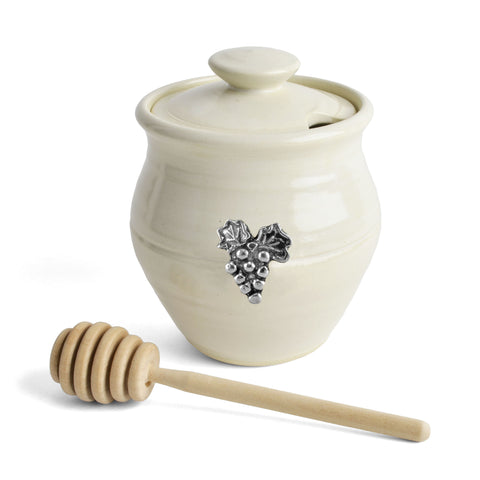 Oregon Stoneware Studio Vineyard Honey Pot - The Barrington Garage