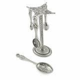 Crosby and Taylor Fleur de Lys Pewter Measuring Spoons with Display Post - The Barrington Garage
