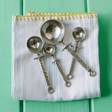 Crosby and Taylor Celtic Pewter Measuring Cups and Spoons Super Post Set - The Barrington Garage