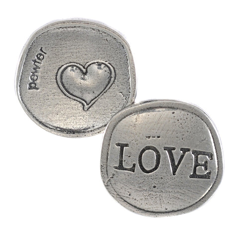 Crosby and Taylor Big Heart Love Pewter Sentiment Coin - The Barrington Garage