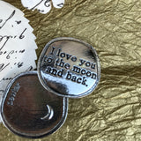 Crosby and Taylor I Love You to the Moon and Back Pewter Sentiment Coin