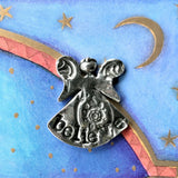 Crosby and Taylor Believe Angel Pewter Pocket Token