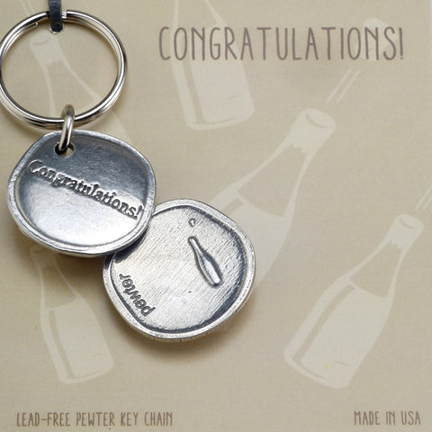 Crosby and Taylor Congratulations! Sentiment Key Chain - The Barrington Garage
