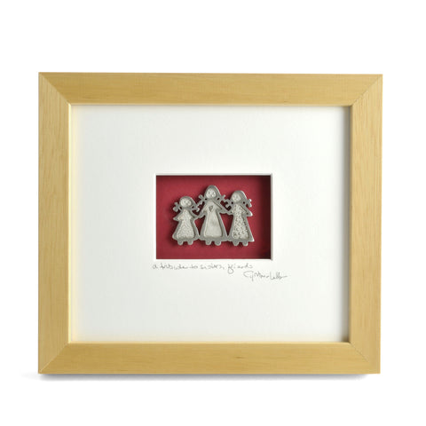 Cynthia Webb Designs Three Sisters Framed Pewter Ornament