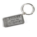 Cynthia Webb Designs Hug Coupon Pewter Key Ring - The Barrington Garage
