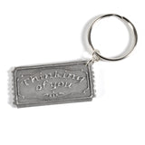 Cynthia Webb Designs Prayers Pewter Key Ring - The Barrington Garage