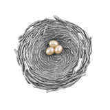 Cynthia Webb Designs Bird's Nest with Pearl Eggs Pewter Trinket Bowl - The Barrington Garage