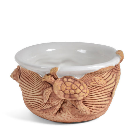Charlestown Porcelaine Sea Life 2-Cup Dip Bowl Soup Crock