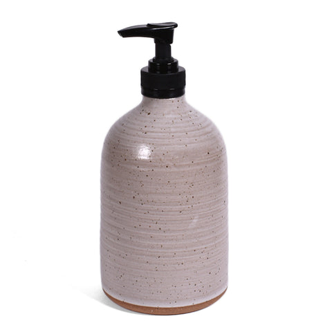 Clay Path Studio Tall Soap Lotion Dispenser, Vanilla Bean