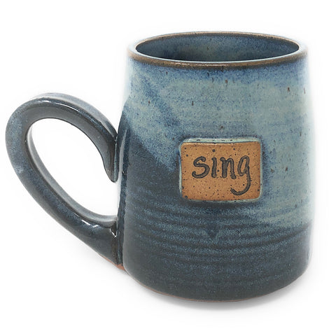 Clay Path Studio Sing Handmade American Pottery Mug, Blue