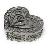 Crosby & Taylor Small 2.25-inch Pewter Heart Box