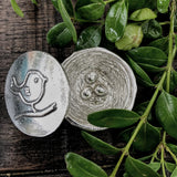 Crosby & Taylor Birdie with Nest Tiny Pewter Sentiment Box