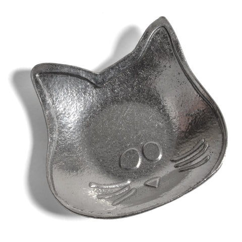 Crosby & Taylor Lucy the Cat Pewter Teabag Holder Trinket Dish