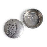 Crosby and Taylor I Love You to the Moon and Back Tiny Pewter Sentiment Box