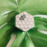 Crosby & Taylor Honeybee Be Happy Tiny Pewter Sentiment Box