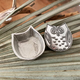 Crosby & Taylor Owl Tiny Pewter Sentiment Box
