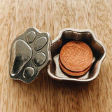Crosby & Taylor Puppy Paw with Bone Tiny Pewter Sentiment Box