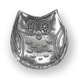 Crosby & Taylor Owl Pewter Teabag Holder Trinket Dish