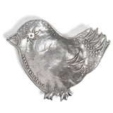 Crosby & Taylor Bird American Pewter Teabag Holder/Trinket Dish