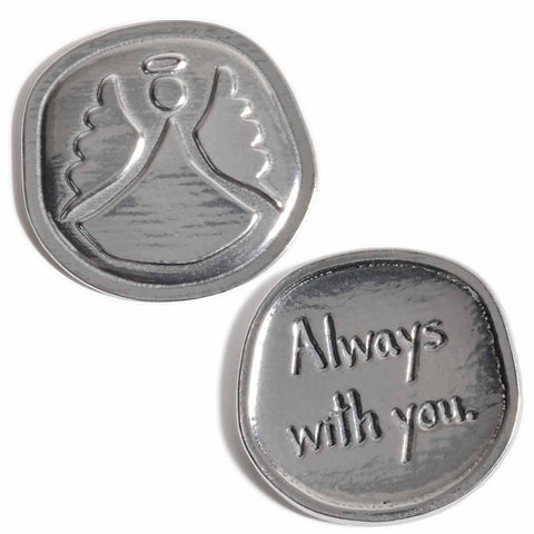 Crosby & Taylor Angel Always with You Lead-Free American Pewter Sentiment Coin