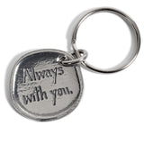 Crosby & Taylor Angel Always with You Pewter Sentiment Key Chain