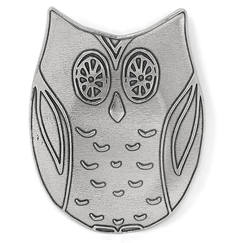 Crosby & Taylor Owl Pewter Spoon Rest