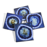 Dock 6 Pottery Coasters with Fused Glass, Set of 4 - The Barrington Garage