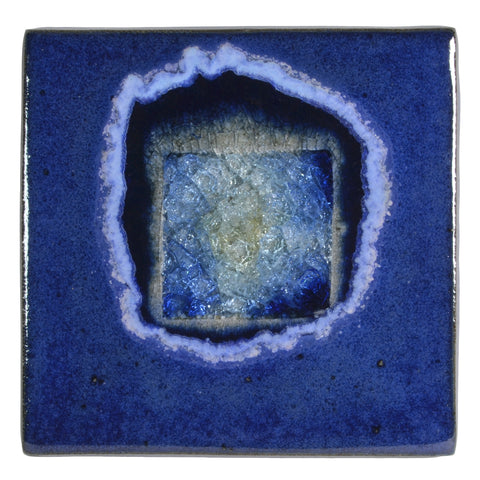 "Dock 6 Pottery 5.5"" Square Trivet with Fused Glass, Blue - The Barrington Garage"