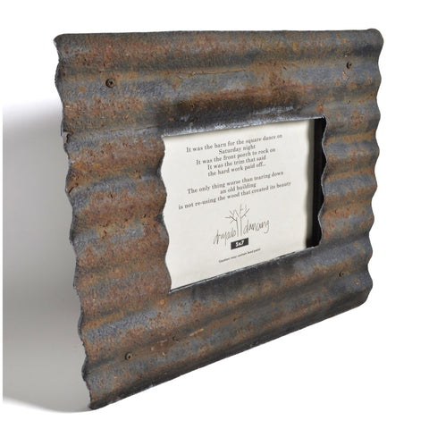 Dryads Dancing Reclaimed Corrugated Roof Tin Frame – The Barrington ...