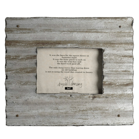Dryads Dancing Reclaimed Corrugated Roof Tin Photo Frame