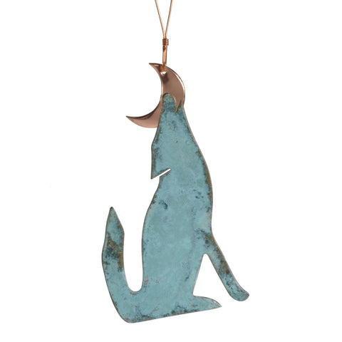 Dos Damas Designs Coyote Copper Ornament - The Barrington Garage