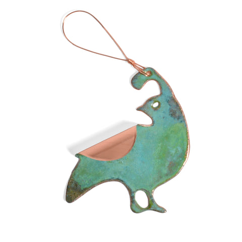 Dos Damas Designs Quail Copper Ornament