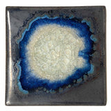 Dock 6 Pottery Coasters with Fused Glass, Set of 4, Tin Man