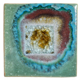 Dock 6 Pottery 5.5-inch Square Trivet with Fused Glass