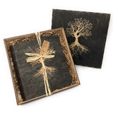Doles Orchard Tree of Life Laser Etched Wooden Photo Album and Gift Box